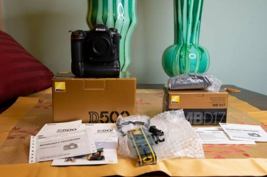 Nikon D500 20.9MP Digital SLR Camera - with Nikon Grip - ONLY 265 Clicks, MINT!!